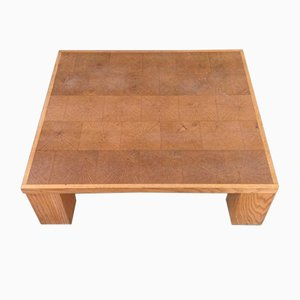 Vintage Belgian Oak Coffee Table by Emiel Verannemann