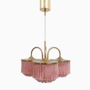 Lámpara colgante con flecos de seda de Hans-Agne Jakobsson, años 60