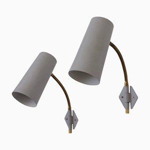 Schwedische Wandlampen, 1950er, 2er Set