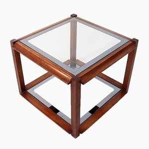 Mesa de centro italiana cuadrada de madera