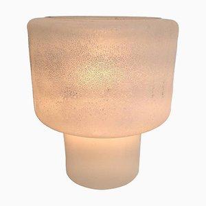 Lampe de Bureau en Verre Murano Givré par Alfredo Barbini