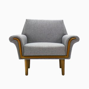 Neutral Gray Club Chair, 1960s