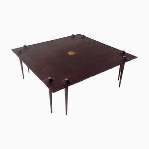 Table Basse Brutaliste par Idir Mecibah pour Smederij, 1998