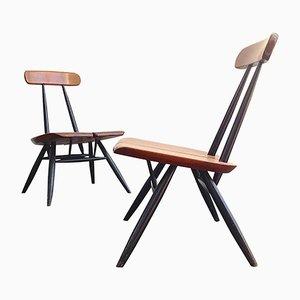 Niedrige Sessel von Ilmari Tapiovaara für Laukaan Puu, 1950er, 2er Set