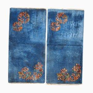 Handgemachte Chinesische Art Deco Teppiche, 1920er, 2er Set
