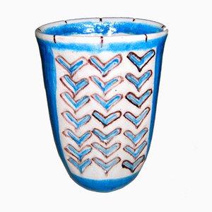 Jarrón de Guido Gambone para Gambone Keramik, años 50