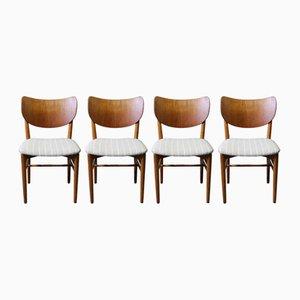 Chaises de Salle à Manger par Nils & Eva Koppel, 1960s, Set de 4