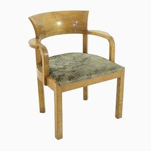 Art Deco Armlehnstuhl aus Holz, 1930er