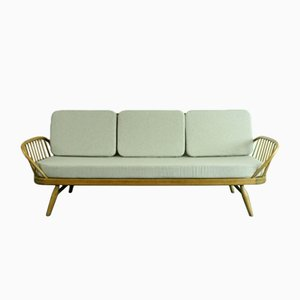 Vintage Model 355 Stufio Couch in Blonde and Gray by Lucian Ercolani for Ercol