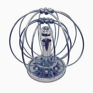 Lámpara era espacial de plástico y cromo, años 60