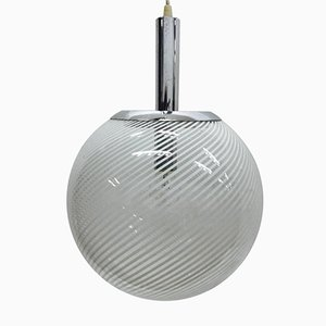 Vintage Space Age Round Pendant Light from Venini