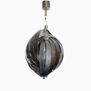 Lámpara de araña italiana Mid-Century de acero, años 60