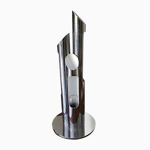 Lámpara italiana era espacial de acero, años 70