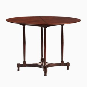 Vintage Italian Mahogany Round Dining Table