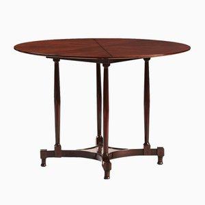 Vintage Italian Mahogany Round Dining Table