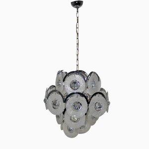 Lámpara de araña vintage de cristal de Murano de Vistosi, años 60