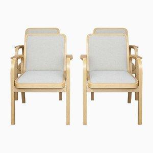 Chaises Model 45 par Alvar Aalto pour Artek, 1970s, Set de 4