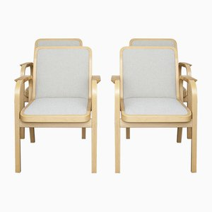 Sedie modello 45 di Alvar Aalto per Artek, anni '70, set di 4