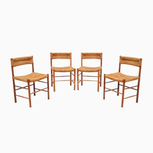 Dordogne Chairs by Charlotte Perriand for Sentou, 1955, Set of 4