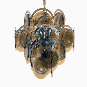 Vintage Milanese Chandelier from Vistosi, 1960s