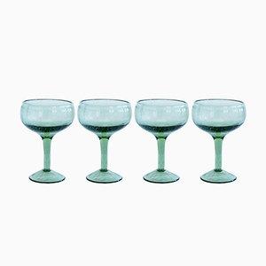 Vasos verdes para cócteles de House Doctor. Juego de 4
