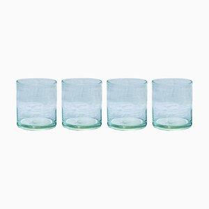 Vasos de agua de vidrio soplado de House Doctor. Juego de 4