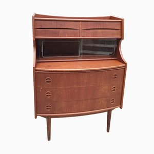 Danish Solid Teak Secretaire, 1960s