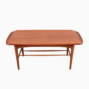 Mid-Century Coffee Table in Teak, 1950s