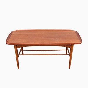 Table Basse Mid-Century en Teck, 1950s