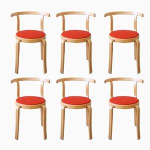 8000 Serie Stühle von Rud Thygesen & Johnny Sørensen für Magnus Olesen, 1980er, 6er Set