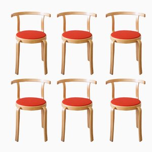 8000 Series Chairs by Rud Thygesen & Johnny Sørensen for Magnus Olesen, 1980s, Set of 6