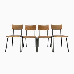 Belgische Industrielle Stühle, 1960er, 4er Set