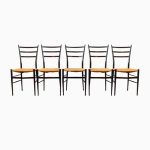 Italian Spinetto Chiavari Dining Chairs, 1950s, Set of 5
