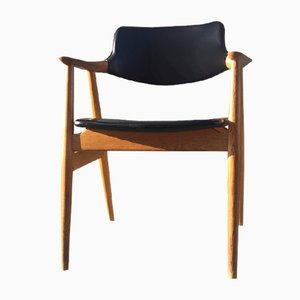Sedia in quercia di Erik Kirkegaard per Høng Stolefabrik, anni '60