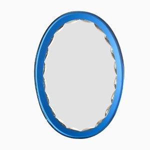 Espejo italiano Mid-Century ovalado, años 60