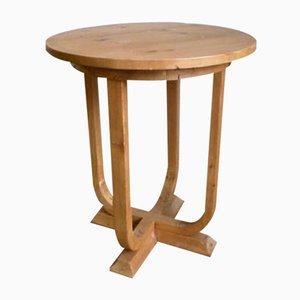 Tavolino Art Déco in pino, anni '30