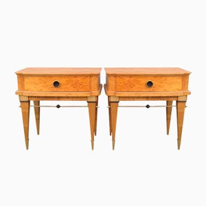 French Birch Night Stands, 1960s, Set of 2