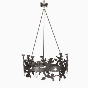 Lámpara de araña de hierro y vidrio de Bertil Vallien para Boda Smide, años 60