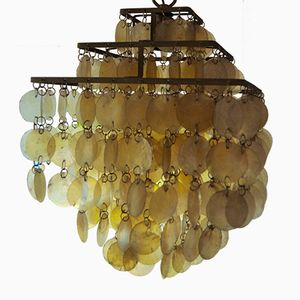 Mid-Century Mother-Of-Pearl Chandelier by Arturo Pani for Verner Panton, 1960s