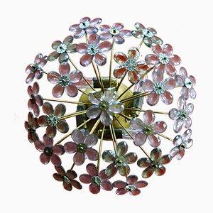 Lámpara de techo vintage floral de Maison Baguès, años 70
