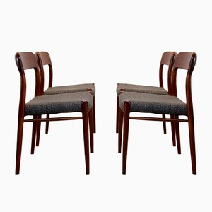 Model 75 Dining Chairs by Niels Otto Møller for J.L. Møllers Møbelfabrik A/S, 1950s, Set of 4
