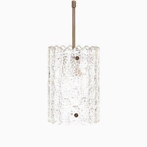 Lámpara colgante Mid-Century de cristal de Carl Fagerlund para Orrefors, años 60