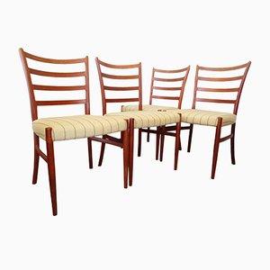 Vintage Teak Esszimmerstühle von Johannes Andersen für Sva Møbler, 4er Set