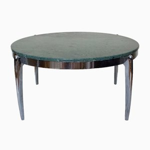 Coffee Table in Marble and Stainless Steel, 1970s