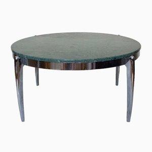 Tavolino da caffè in marmo e acciaio inossidabile, anni '70