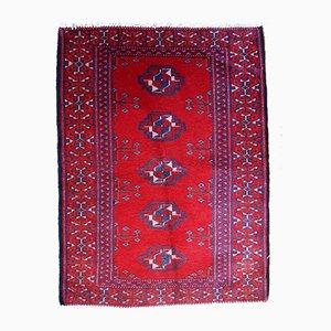 Alfombra Turkmen vintage hecha a mano, años 70