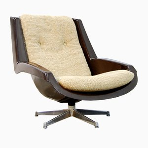 Vintage Alpha Space Age Swivel Chair by Paul Tuttle for Strässle, 1970s