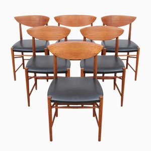 Mid-Century Danish Model 317 Chairs by Hvidt & Mølgaard-Nielsen for Søborg Møbelfabrik, 1958, Set of 6