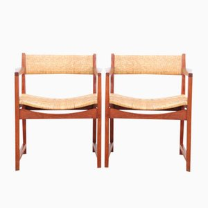 Mid-Century Danish Model 350 Armchairs by Peter & Orla Hvidt & Mølgaard-Nielsen for Søborg Møbelfabrik, 1958, Set of 2