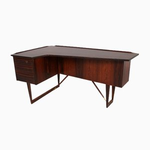 Mid-Century Danish Rosewood Corner Desk by Peter Løvig Nielsen for Hedensted Møbelfabrik, 1967